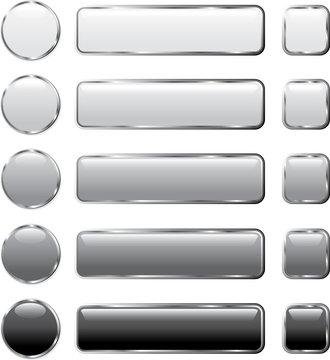 gray buttons long