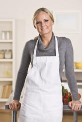 Attractive blond chef