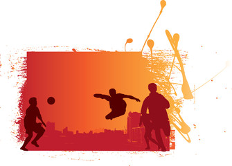 grunge and urban style football soccer illustration