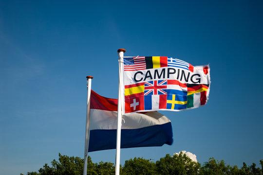 Campingplatz Fahne