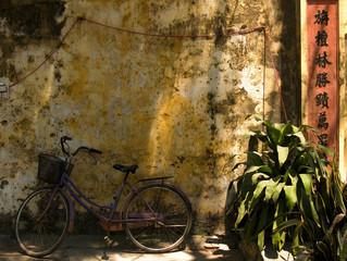 Fahrrad an Hausmauer,Hoi An,Vietnam