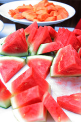 watermelon at buffet
