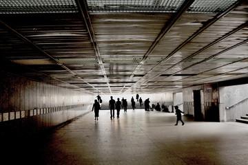 tunel w mieście