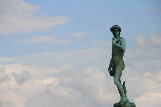 Michael Angelo's David Copy in Florence Italy