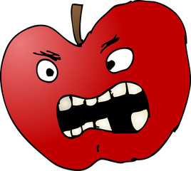 Bad apple illustration