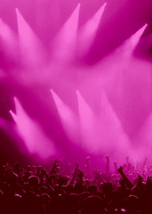 Pink, Licht, Publikum, und Musik