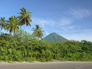 Black sand beach on Isla de Ometepe, Nicaragua