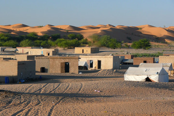 Touareg village in the Sahara