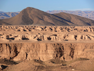 Dry riverbed of oued Draa
