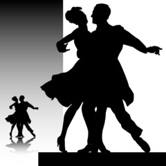 dancer vector silhouettes
