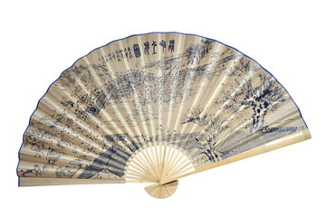 Chinese fan on a white background