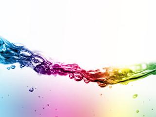 Obraz colorful liquid in motion - fototapety do salonu