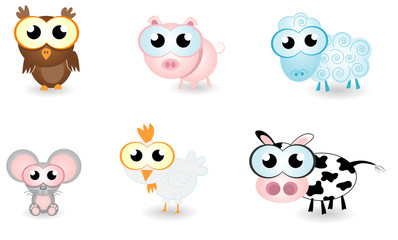 cartoon animals farm