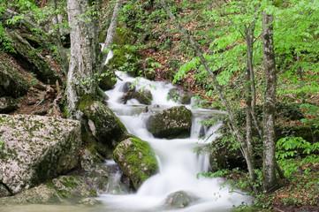 Soft little peaceful waterfall