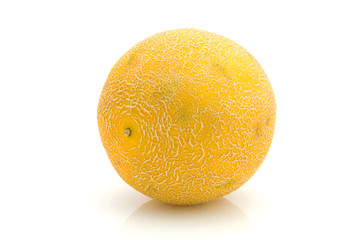 yellow melon isolated on white background
