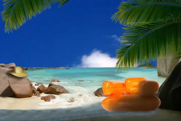 détente a la plage