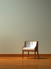 Alone chair  in minimalist interior