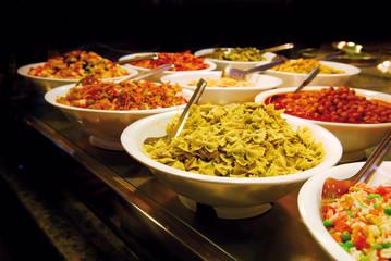 food buffet at barcelona market