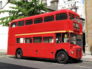 Poster London red bus London Routemaster red double decker bus