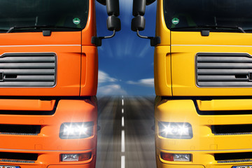 Wall Mural - LKW Duell