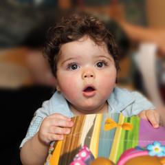 Expression d'un bébé...