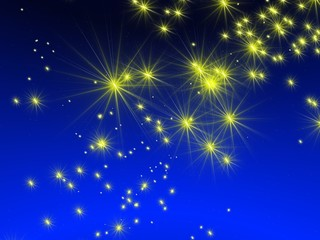 yellow star sky background