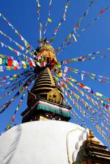 Poster Nepal bodhnath stupa in nepal