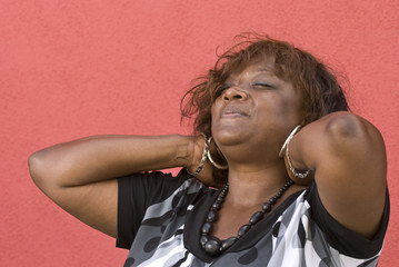relaxing black woman (horizontal)