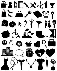 silhouettes items