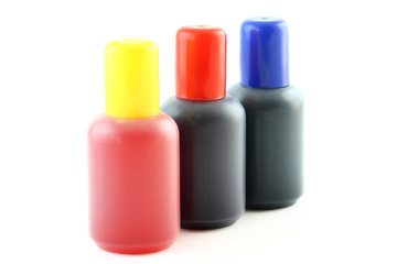 bottles with ink