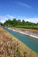 canale di scolo della centrale elettrica