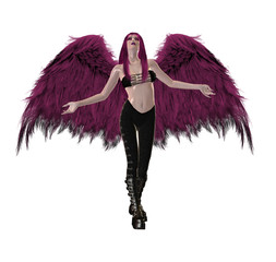 Gothic Pink Angel