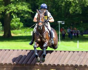 Horse Trial Mid Air Jump