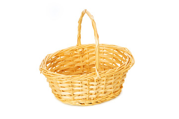 Woven basket isolated on the white background
