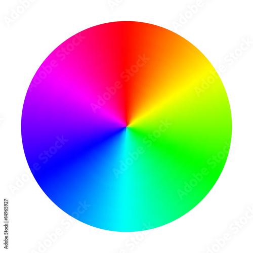 Color Spectrum Wheel Vector