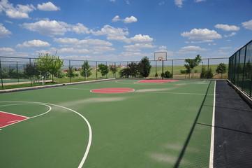 outdoor basketball field