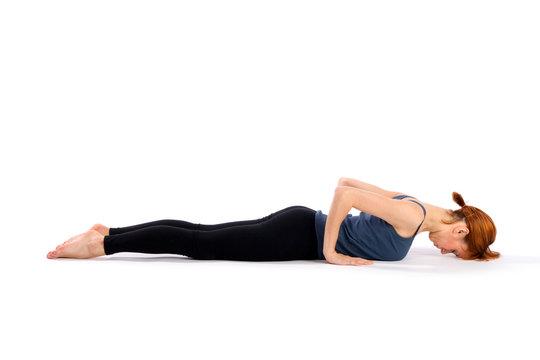 Fit Woman Practising Yoga