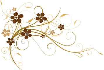 Blumen filigran, braun, Brauntöne