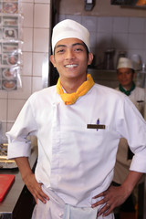 chef in pose
