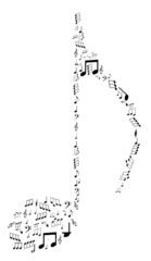 Note design by musical notes vector illustration