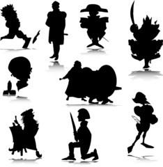 historic people vector silhouettes