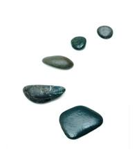 Five pebbles in row