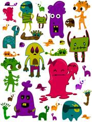 Monsters Doodles
