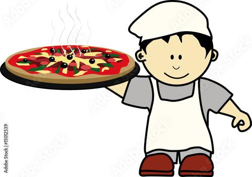 K pizzaiolo 1 fichier vectoriel libre de droits sur la for Emploi pizzaiolo