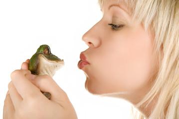 Girl and Frog prince