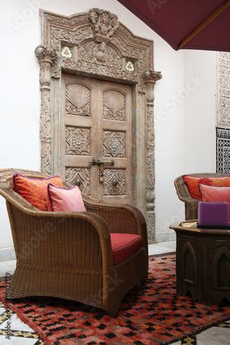 Patio Dun Riad Marocain Salon Oriental Stock Photo And Royalty