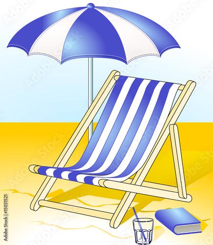 Sonnenschirm strand clipart  sonnenschirm-liegestuhl