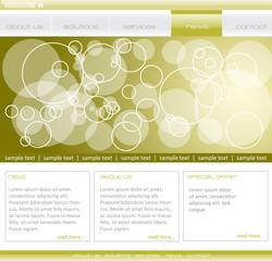 Editable webpage template