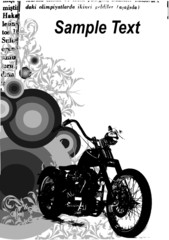 grunge background with motorcycle