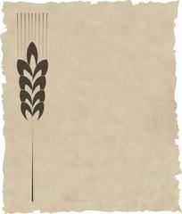 Fototapeta the vector wreath on old paper obraz